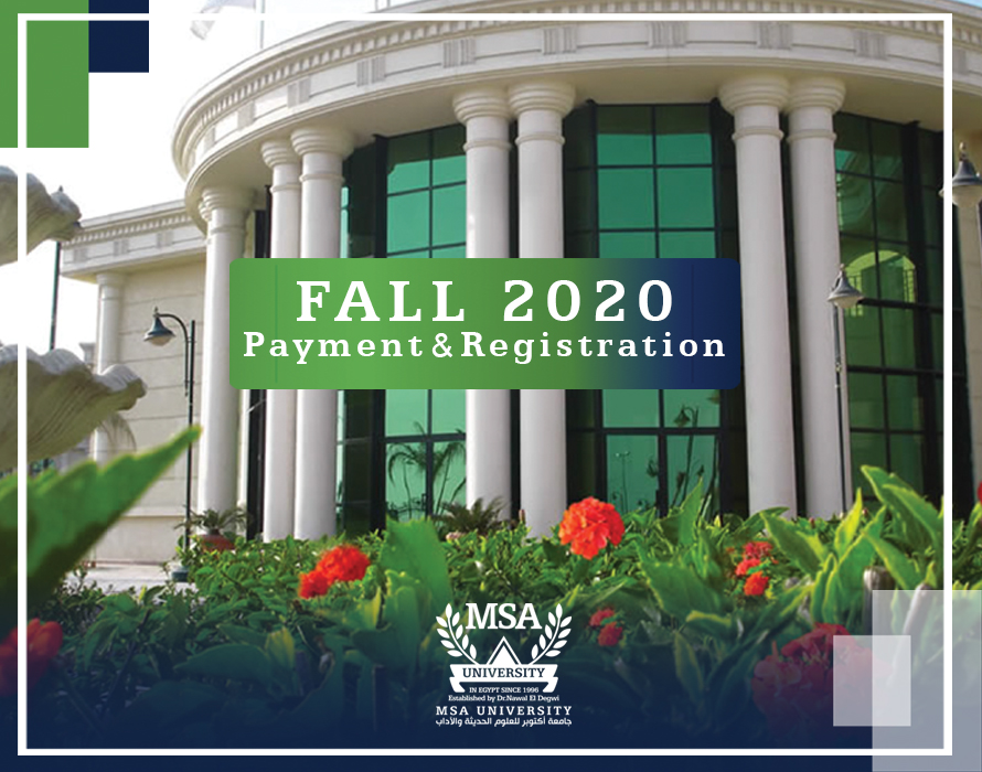 Fall 2020  Payment & Registration