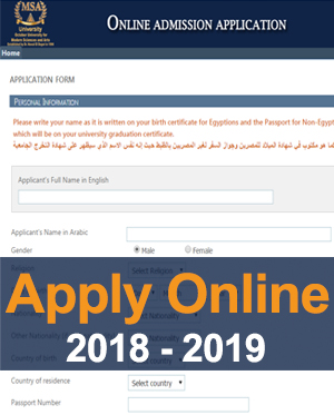 MSA University - Apply Online (2018-2019)