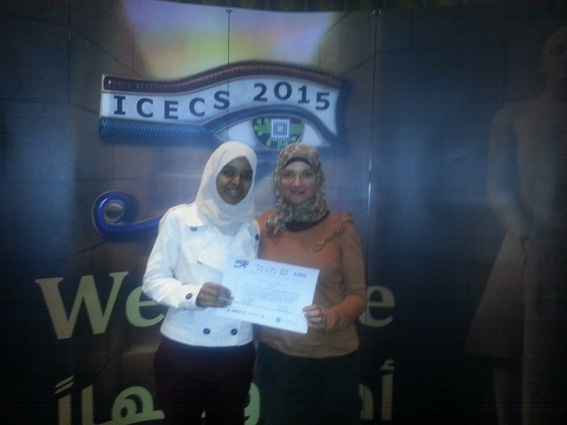 MSA Engineering graduates publish a paper at ICECS 2015 organized by IEEE.