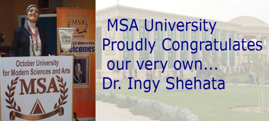 MSA is delighted to congratulate our very own powerhouse Ingy Shehata