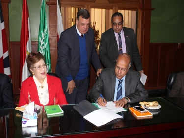 Signing Protocol with Egyptian Meteorological Authority