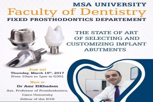 The State of Art of selecting and customizing Implant abutments session