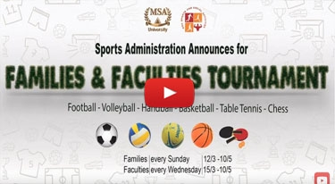 Families and faculties tournament promo