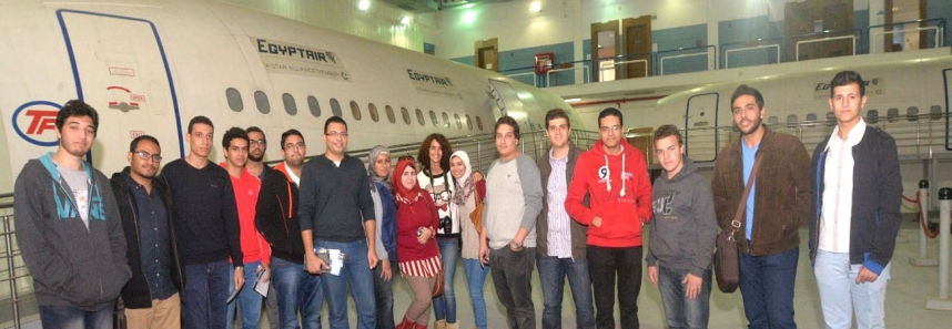 MSA students in Egypt Air and joining the Company's summer training