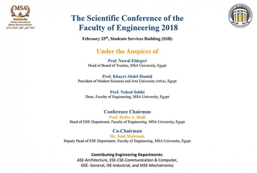 The Scientific Conference of the  Faculty of Engineering 2018