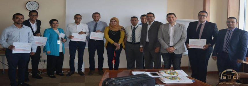 Honoring distinctive Engineering students at Xerox Egypt's training