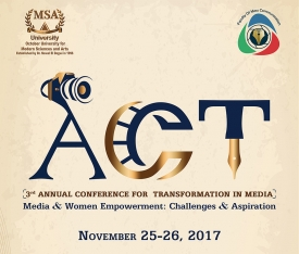 The 3rd Academic Conference for Transformation in Media - ACT 2017