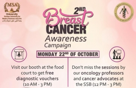 Breast Cancer Awareness Campaign with Yasmien Ghaith