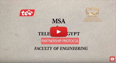 MSA university faculty of engineering signing a protocol contract with Telecom Egypt