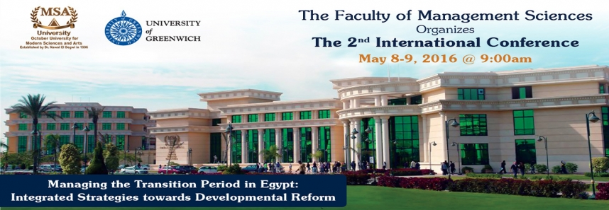 The 2nd International Conference hosted by the faculty of Management Sciences