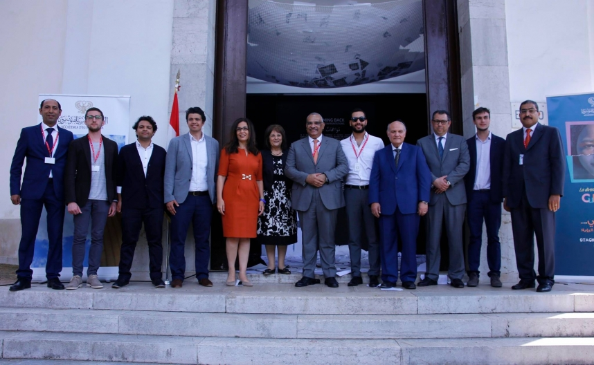 The achievement of Egyptian Pavilion from the real front at the 2016 Venice Biennale , The Egyptian team includes two of MSA graduates