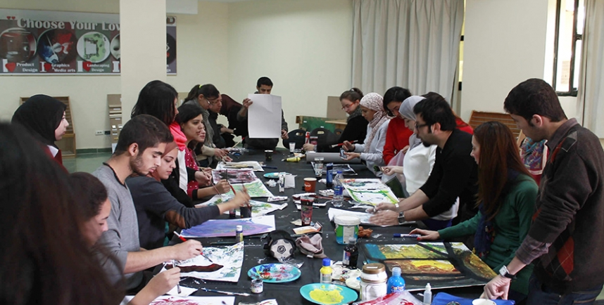 A Colour Workshop held for Interior Design Students