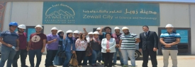 The practical training of architecture students on site of the national venture of Zwail City
