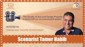 A session with the Scenarist Tamer Habib