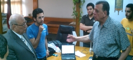 MSAians present the Plant Disease Alarm Prototype to the Ministry of Agriculture