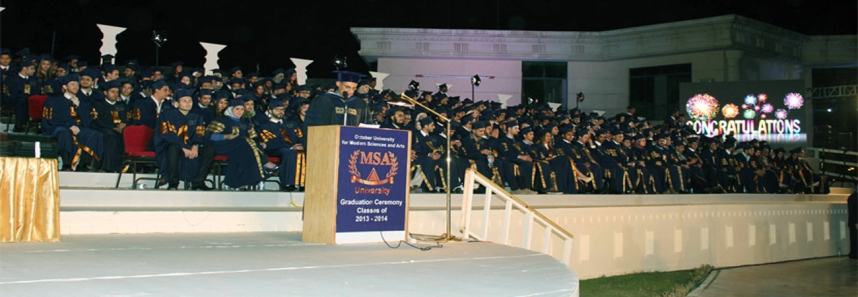 Glare and Glory of MSA 15th Class Graduation Ceremony Made the University's Worldwide Recognition a Reality