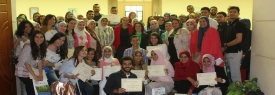 Faculty of pharmacy honoring the accomplished students