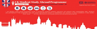 UK student study abroad programme Summer 2017